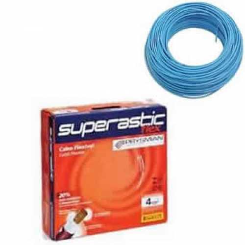cabo flexível 4,0 MM x 100 metros azul superastic - Cód: 4659 - Marca: Prysmian