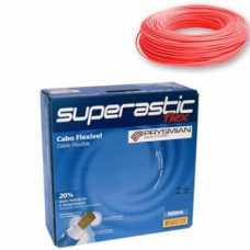 cabo flexível 6,0 MM x 100 metros vermelho superastic - Cód: 4661 - Marca: Prysmian