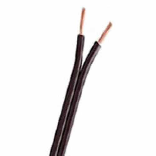 Fio paralelo 2 X 0.30mm preto em metro - Cód: 1018 - Marca: Diversas