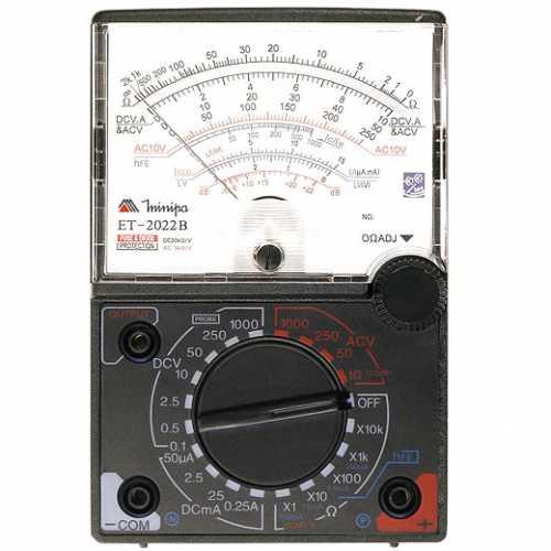 Multímetro analógico grande tensão AC/DC 1000V ET-2022B - Cód: 5130 - Marca: Minipa