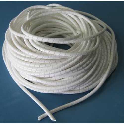 Organizador de cabos e fios elétricos 06mm espiral branco em metro - Cód: 1581 - Marca: Diversas