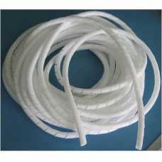 Organizador de cabos e fios elétricos 12mm espiral branco em metro - Cód: 1583 - Marca: elesys