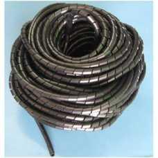 Organizador de cabos e fios elétricos 12mm espiral preto em metro - Cód: 3143 - Marca: elesys