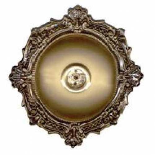Plafonier BVC PVC bronze com soquete E27 em porcelana - Cód: 1805 - Marca: Pavilonis