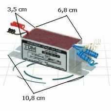 Inversor universal para duas lâmpadas fluorescentes de 4, 6w, 8w ou 10w 12volts - Cód: 1166 - Marca: TDM