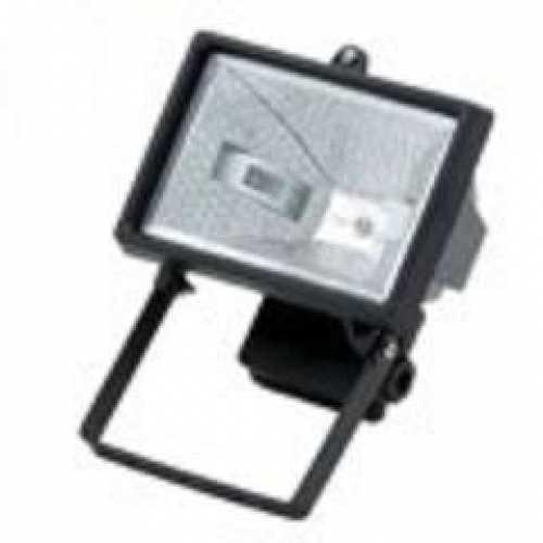 Refletor 300w ou 500w preto com lâmpada halólena 220V - Cód: 1948 - Marca: Golden Plus