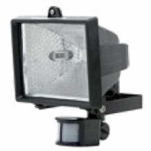 Refletor preto com sensor e lâmpada halólena 300w/500w - Cód: 1941 - Marca: Golden Plus