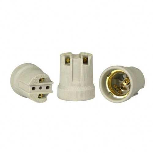 Receptáculo E27 em porcelana ref: MT2313A - Cód: 6737 - Marca: Decorlux