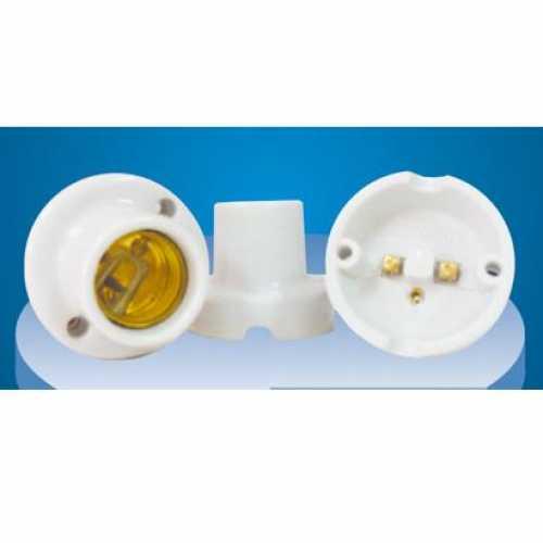 Receptáculo E27 em porcelana Ref: MT-2223A - Cód: 3869 - Marca: Decorlux
