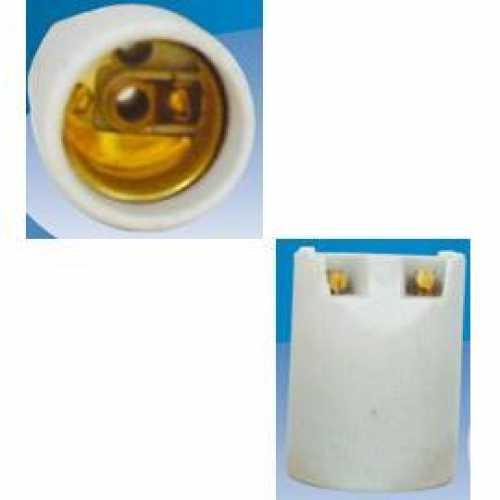 Receptáculo E27 liso em porcelana para spots - Cód: 1937 - Marca: Decorlux