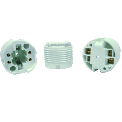 Soquete para lâmpada PL de 18w ou 26w 4 pinos - Cód: 4041 - Marca: Decorlux