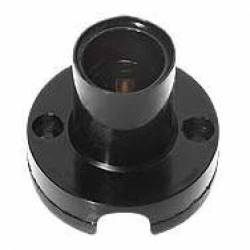 Bocal soquete E14 preto com base para lâmpada E-14 - Cód: 2046 - Marca: Decorlux