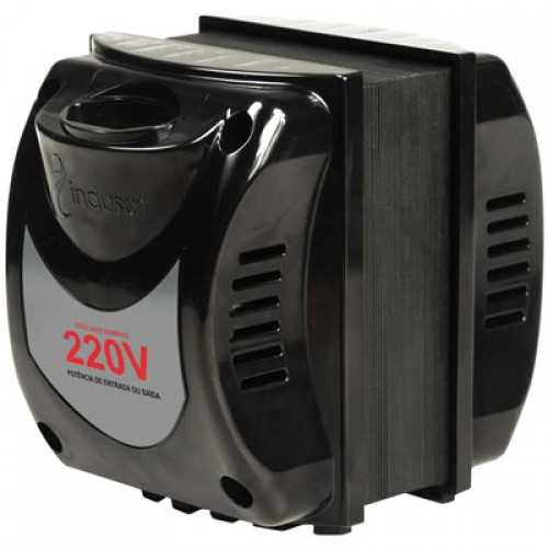 Transformador De Voltagem 1010va Bivolt Tomada Bipolar - Entrada 110v P/ 220v Ou 220v P/ 110 - Cód: 3972 - Marca: Indusat