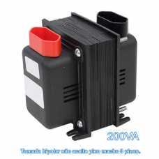 Transformador de voltagem 0200va bivolt tomada bipolar - entrada 110v p/ 220v ou 220v p/ 110v - Cód: 2259 - Marca: Fiolux