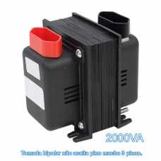 Transformador De Voltagem 2000va Bivolt Tomada Bipolar - Entrada 110v P/ 220v Ou 220v P/ 110v - Cód: 2268 - Marca: Fiolux