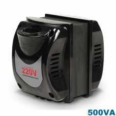 Transformador de voltagem 0500va bivolt tomada bipolar - entrada 110v p/ 220v ou 220v p/ 110v - Cód: 6022 - Marca: Indusat
